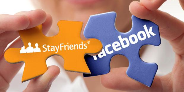 Neu zu stayfriends via facebook